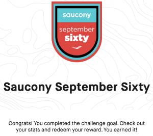 Saucony Strava Challenge